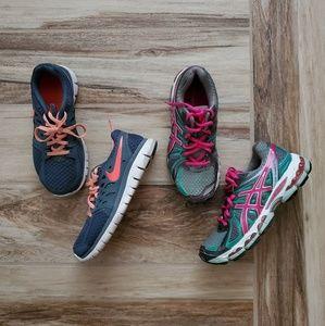 Nike & Asics | Athletic Running Shoes